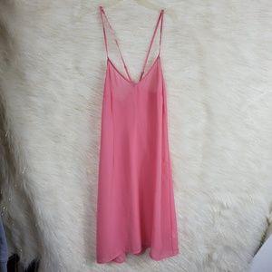 Anthropologie Pink Spaghetti Strap Sheer negligee